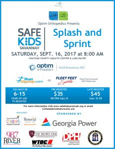 Savannah Safe Kid's Splash and Sprint Event
